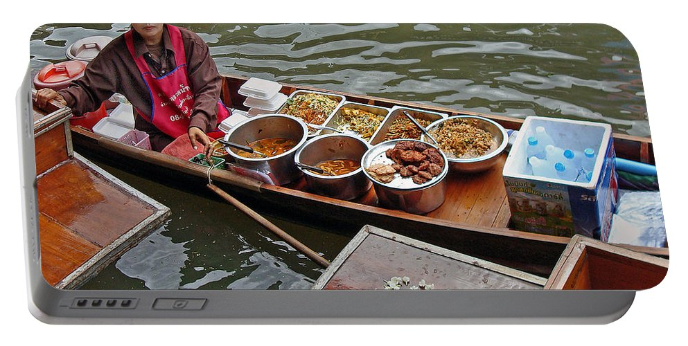 Thailand Portable Battery Charger featuring the photograph Water Market Thailand 1 by Jeff Brunton