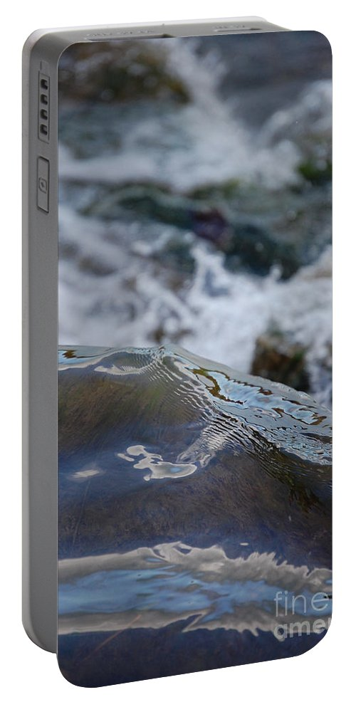 Gray Portable Battery Charger featuring the photograph Water Mountain 1 By Jrr by First Star Art