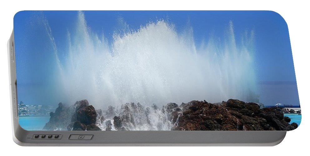 Water Portable Battery Charger featuring the photograph Fountain by FL collection