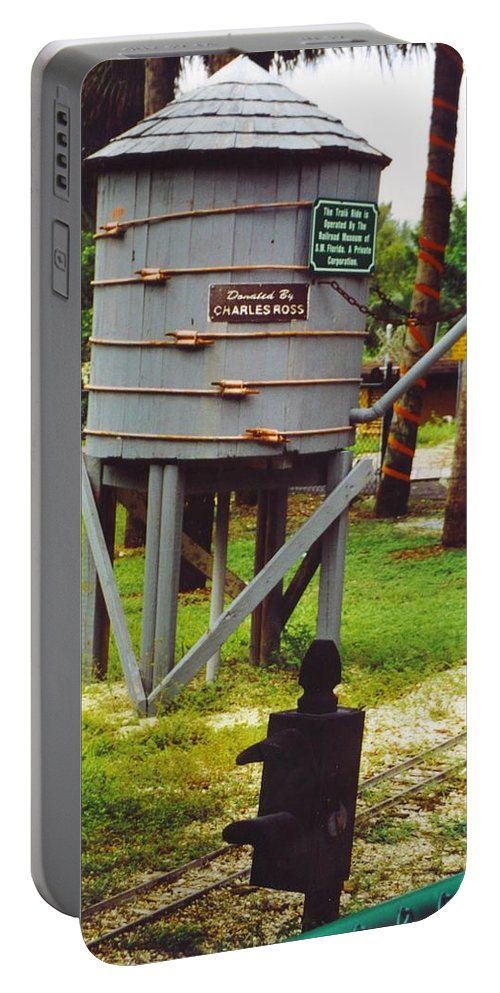 Lakes Park Portable Battery Charger featuring the photograph Water Tank Landscape by Robert Floyd