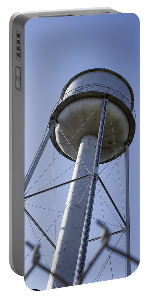 Water Tower Portable Battery Charger featuring the photograph Water Tower Deer Lodge Montana by Cathy Anderson