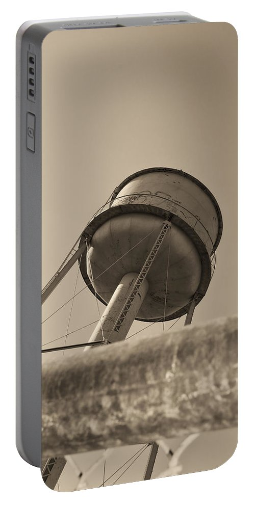 Deer Lodge Montana Portable Battery Charger featuring the photograph Water Tower In Deer Lodge Montana by Cathy Anderson