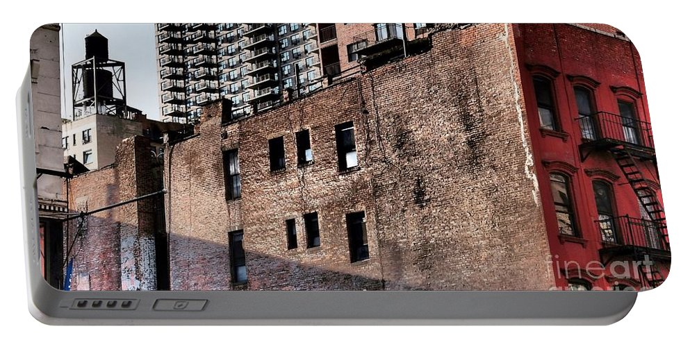 Water Tower Portable Battery Charger featuring the photograph Water Tower With Cityscape by Miriam Danar