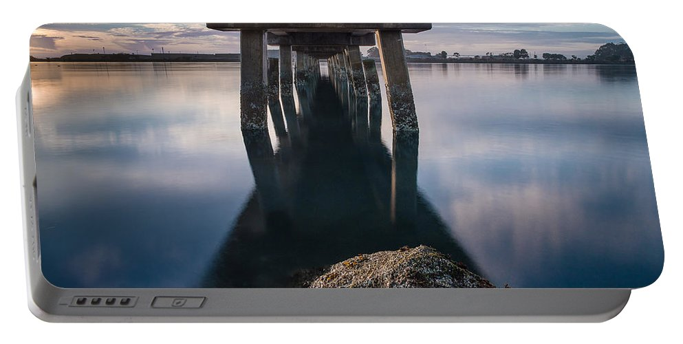 Humboldt Bay Portable Battery Charger featuring the photograph Water Under The Pier by Greg Nyquist