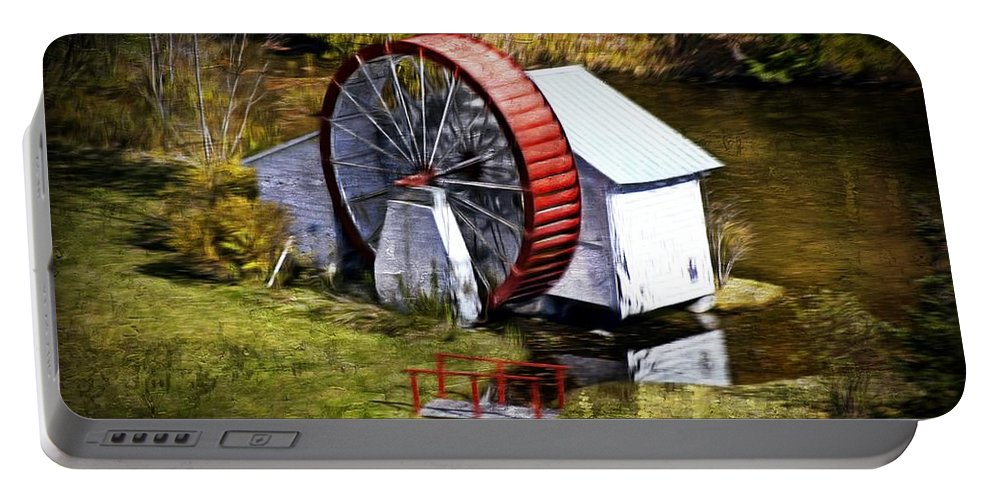 Mill Portable Battery Charger featuring the photograph Water Wheel by Bill Howard