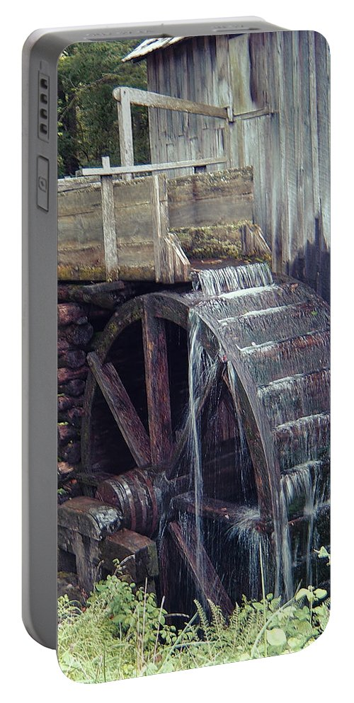 Waterwheel Portable Battery Charger featuring the photograph Water Wheel by Phyllis Taylor