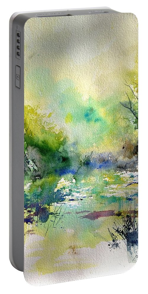 Lanscape Portable Battery Charger featuring the painting Watercolor 45319041 by Pol Ledent