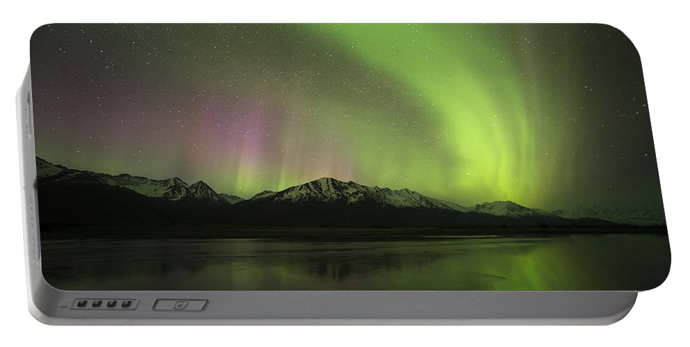 Aurora Portable Battery Charger featuring the photograph Watercolor by Ted Raynor