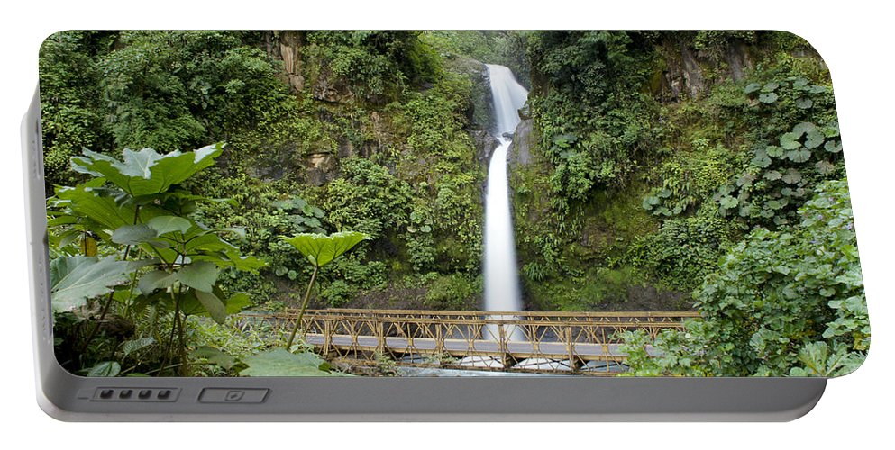 Vacations Portable Battery Charger featuring the photograph Waterfall Bridge by Brian Kamprath