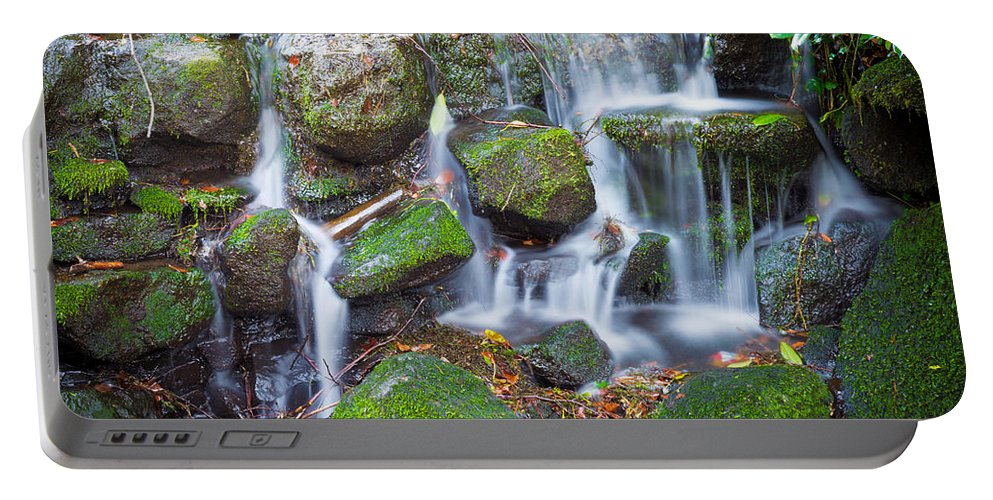 Dublin Portable Battery Charger featuring the photograph Waterfall In Marlay Park by Semmick Photo