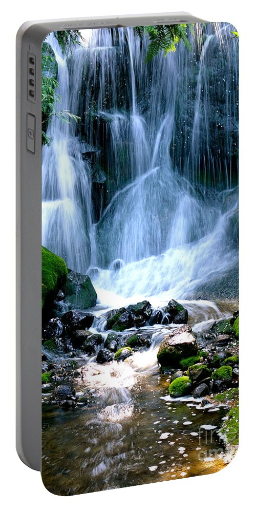 Water Portable Battery Charger featuring the photograph Waterfall by Jacqueline Athmann