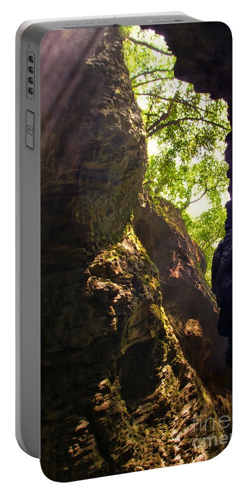 Waterfall Mountain Portable Battery Charger featuring the photograph Waterfall Mountain by Mariola Bitner