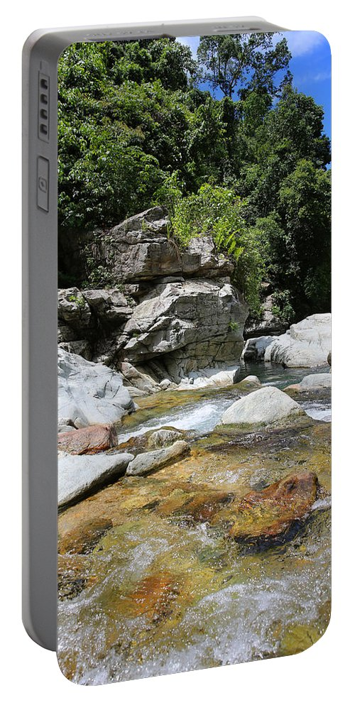 Waterfall Portable Battery Charger featuring the photograph Waterfall by Paul Ranky