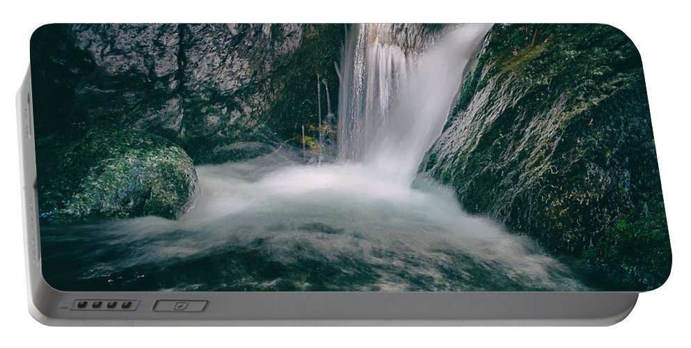 Autumn Portable Battery Charger featuring the photograph Waterfall by Stelios Kleanthous