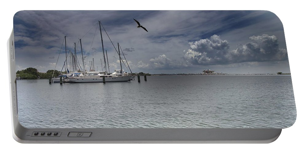 Waterfront View Portable Battery Charger featuring the photograph Waterfront View by Liane Wright