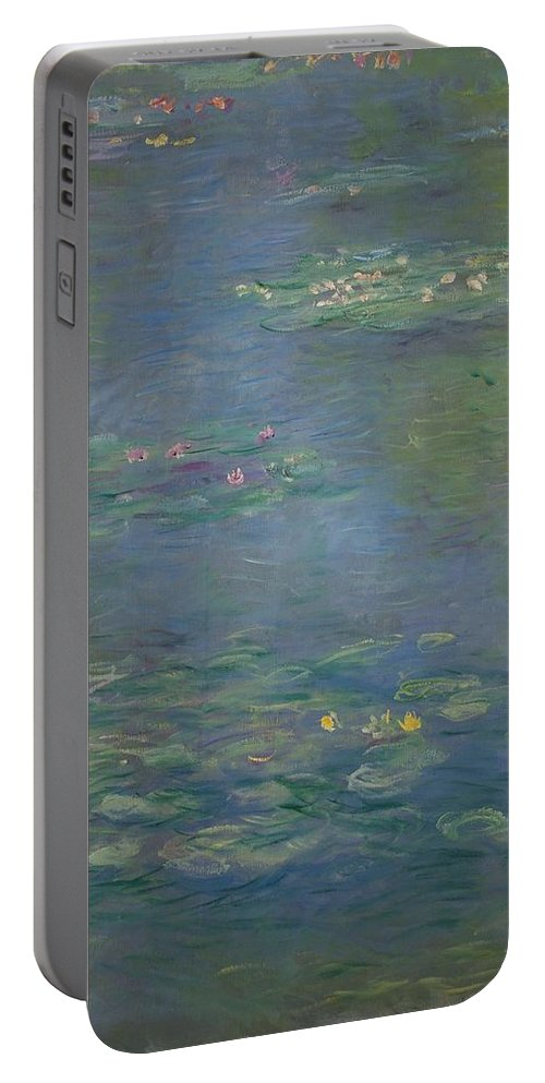 Monet Portable Battery Charger featuring the painting Waterlilies, Detail, 1903 by Claude Monet