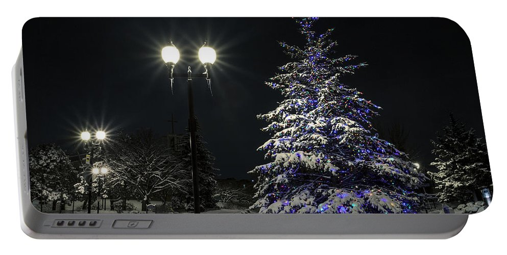 Www.cjschmit.com Portable Battery Charger featuring the photograph Wauwatosa Christmas 2013 by CJ Schmit