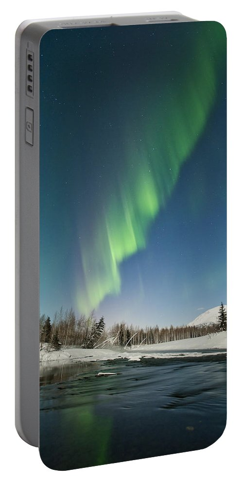 Aurora Portable Battery Charger featuring the photograph Wavy by Ted Raynor