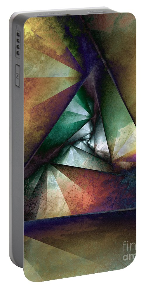 Abstract Portable Battery Charger featuring the digital art Way Towards The Unknown by Klara Acel