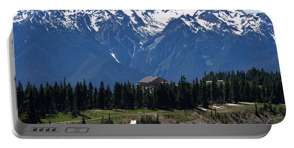 Hurricane Ridge Portable Battery Charger featuring the photograph Way Up High - Hurricane Ridge - Washington by Marie Jamieson