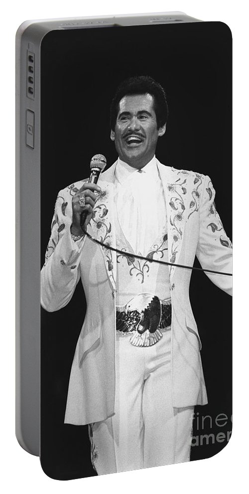 Singer Portable Battery Charger featuring the photograph Wayne Newton by Concert Photos