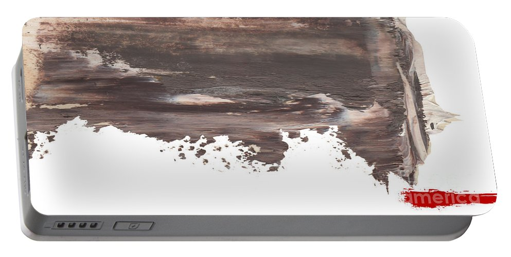 Abstract Portable Battery Charger featuring the painting Wayt by Paul Davenport