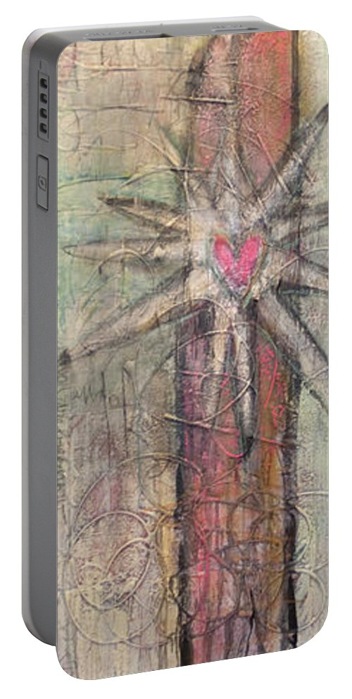 Figurative Portable Battery Charger featuring the painting We Have The Holy Responsibility by Laurie Maves ART