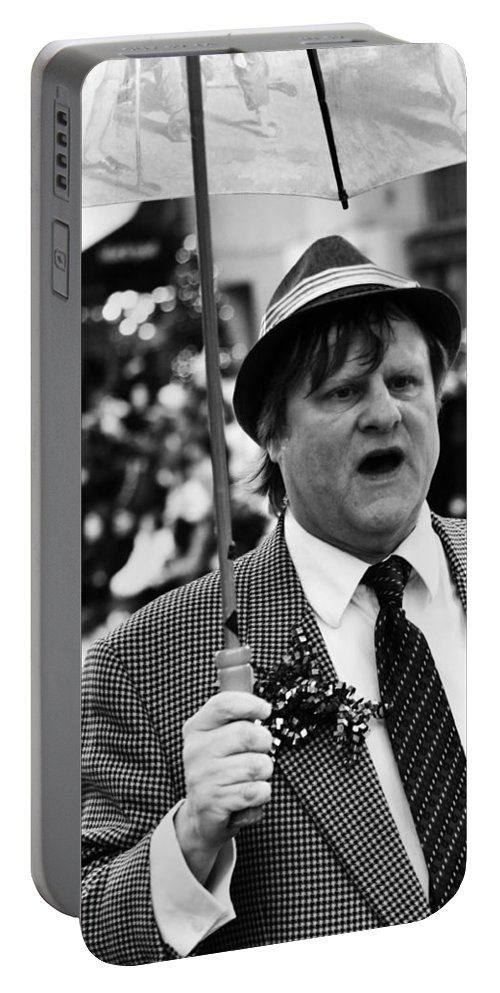 Street Photography Portable Battery Charger featuring the photograph Weather Man by The Artist Project