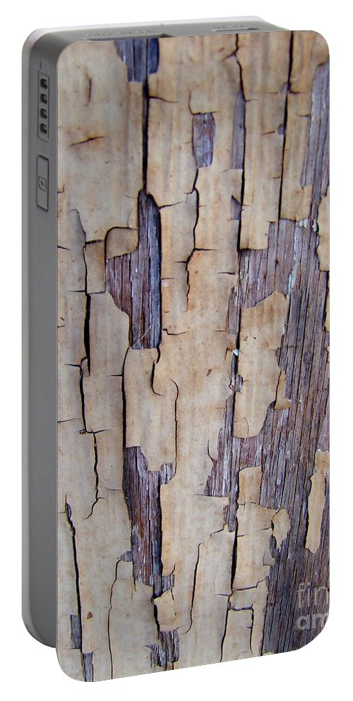 Brown Portable Battery Charger featuring the photograph Weathered by Mary Deal