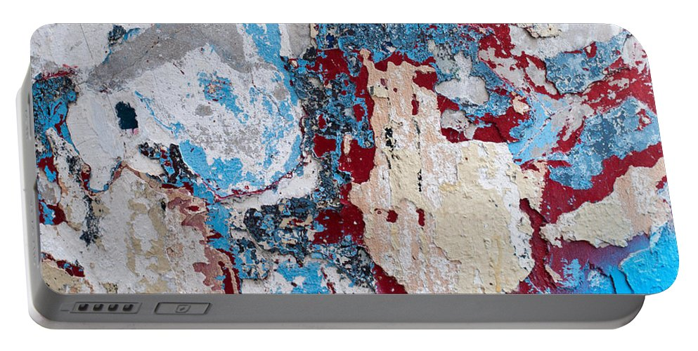 Weathered Portable Battery Charger featuring the photograph Weathered Wall 02 by Rick Piper Photography