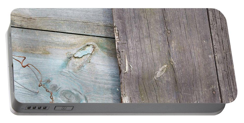 Easter Portable Battery Charger featuring the photograph Weathered Wooden Boards by Jannis Werner