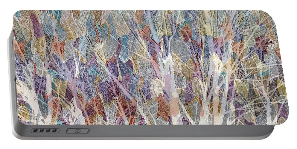 Trees Portable Battery Charger featuring the mixed media Web Of Branches by Ruth Palmer