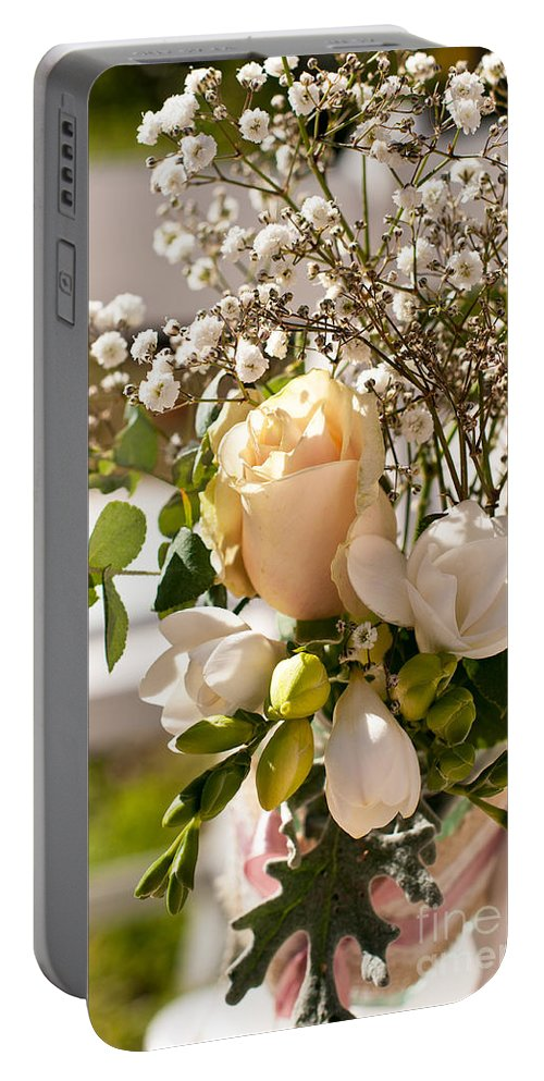 Wedding Portable Battery Charger featuring the photograph Wedding Posy by Rick Piper Photography