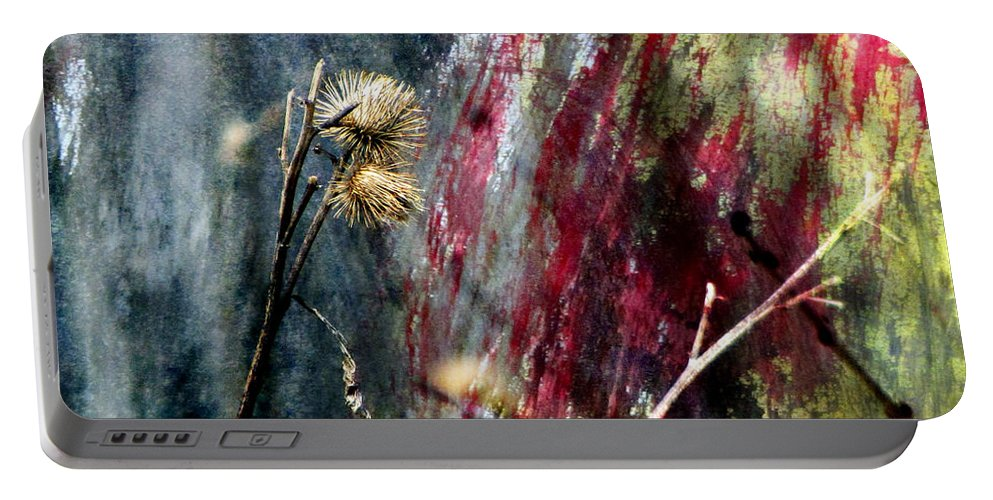 Weeds Portable Battery Charger featuring the digital art Weed Abstract Blend 1 by Anita Burgermeister