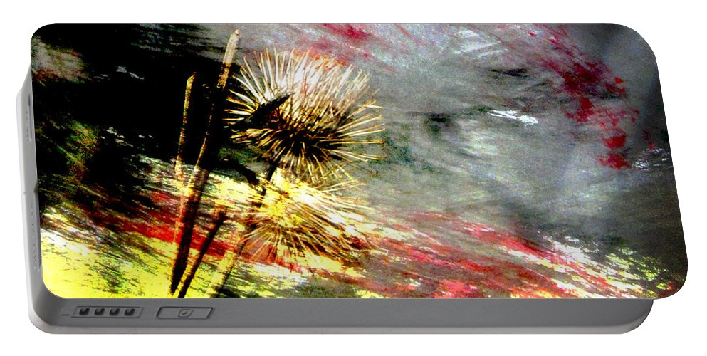 Weeds Portable Battery Charger featuring the digital art Weed Abstract Blend 2 by Anita Burgermeister