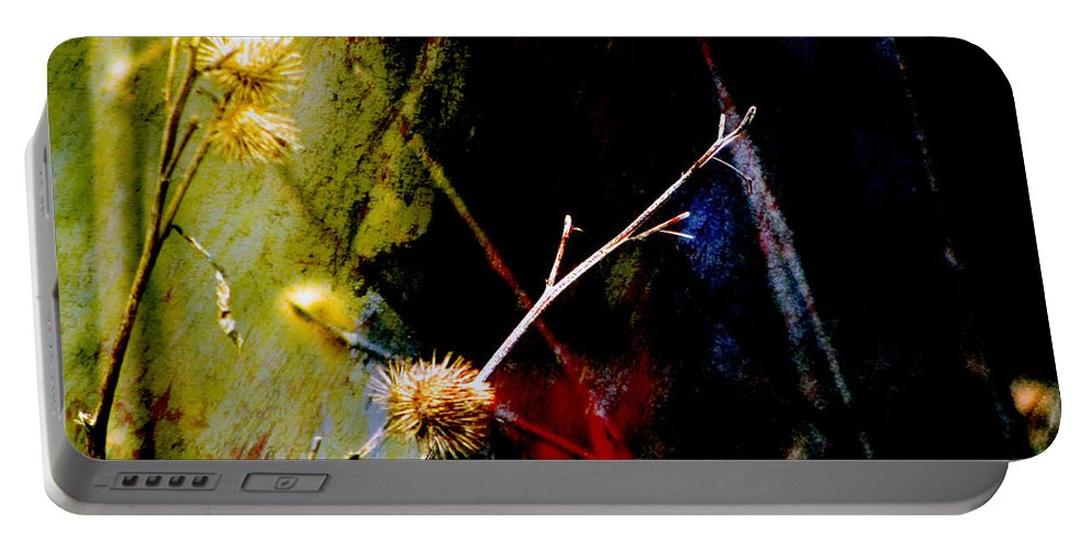 Weeds Portable Battery Charger featuring the digital art Weed Abstract Blend 3 by Anita Burgermeister