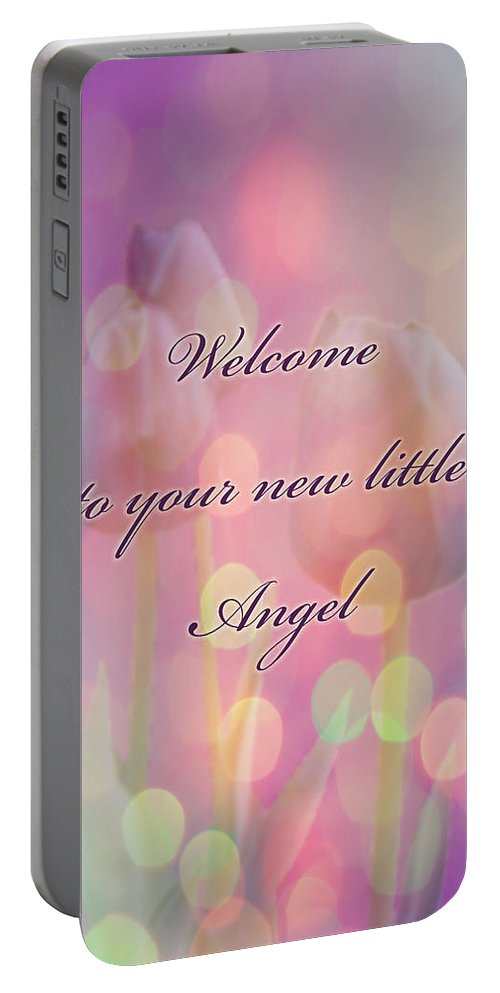 Baby Portable Battery Charger featuring the photograph Welcome New Baby Greeting Card - Tulips by Mother Nature