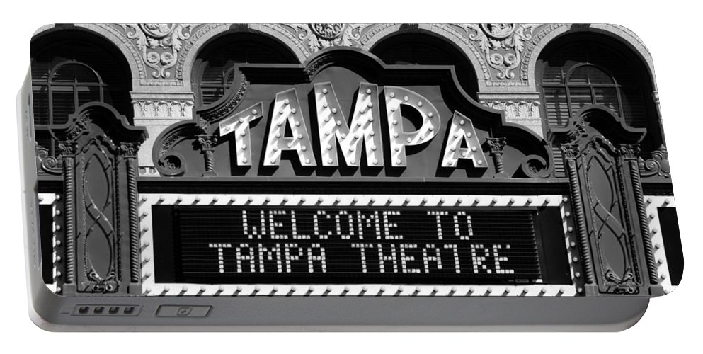 Fine Art Photography Portable Battery Charger featuring the photograph Welcome Tampa by David Lee Thompson