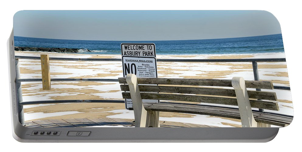 Paul Ward Portable Battery Charger featuring the photograph Welcome To Asbury Park by Paul Ward