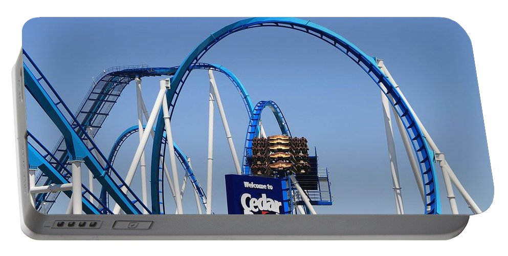 Cedar Point Roller Coasters Portable Battery Charger featuring the photograph Welcome To Cedar Point by Dan Sproul