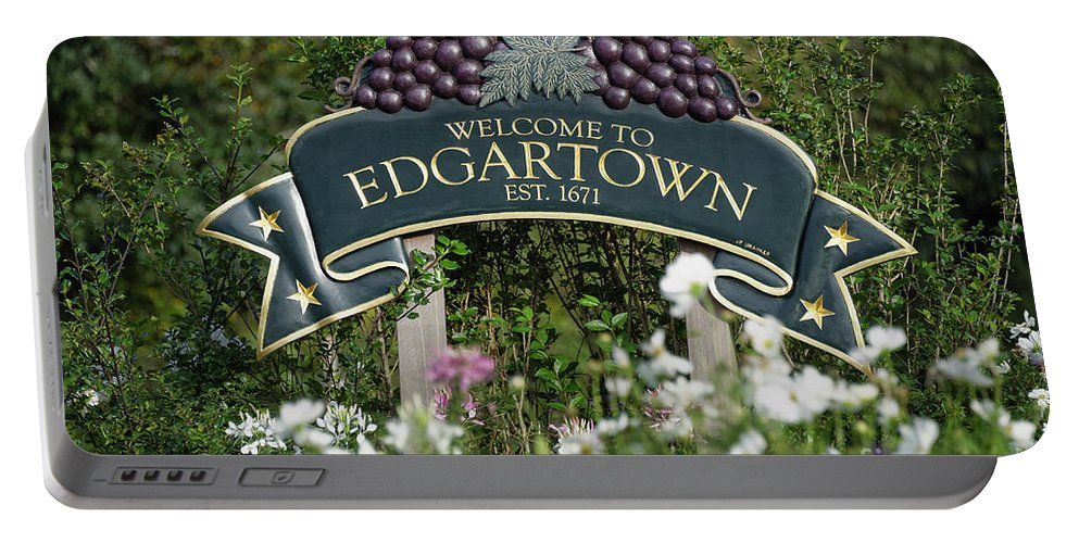 Edgartown Portable Battery Charger featuring the photograph Welcome To Edgartown by John Greim