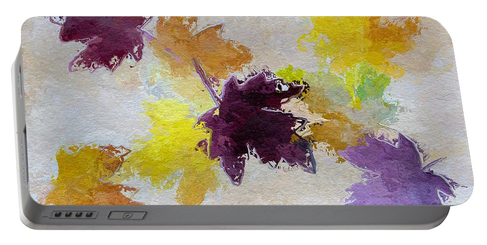 Heidi Smith Portable Battery Charger featuring the painting Welcoming Autumn by Heidi Smith