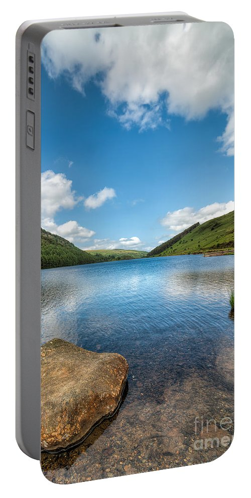 Betws Y Coed Portable Battery Charger featuring the photograph Welsh Lake by Adrian Evans