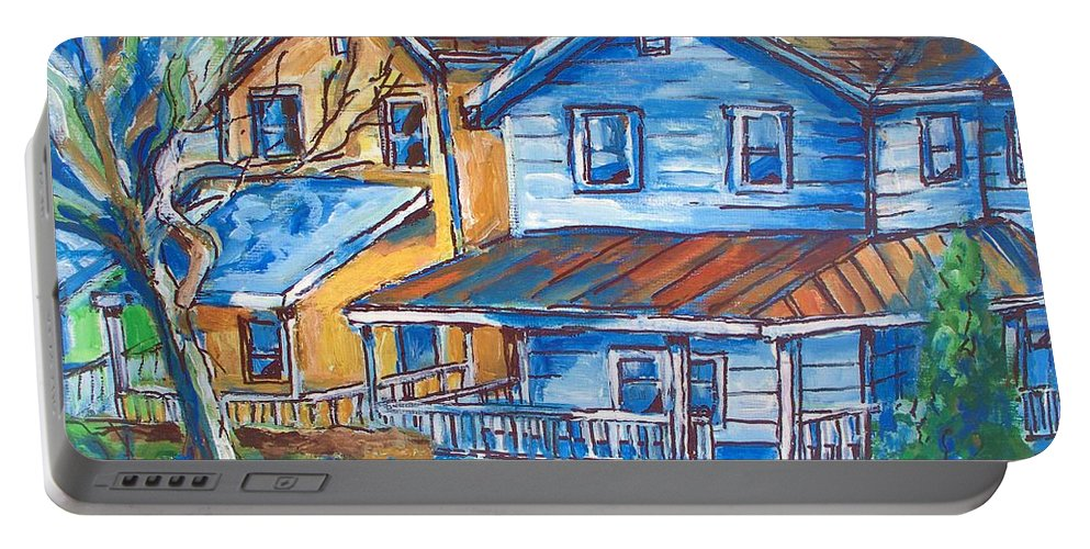 West Cape May Nj Portable Battery Charger featuring the painting West Cape May Nj by Eric Schiabor