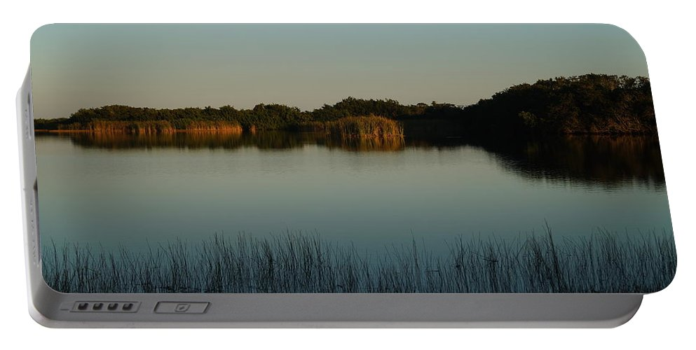 Everglades Portable Battery Charger featuring the photograph West Lake by John Wall