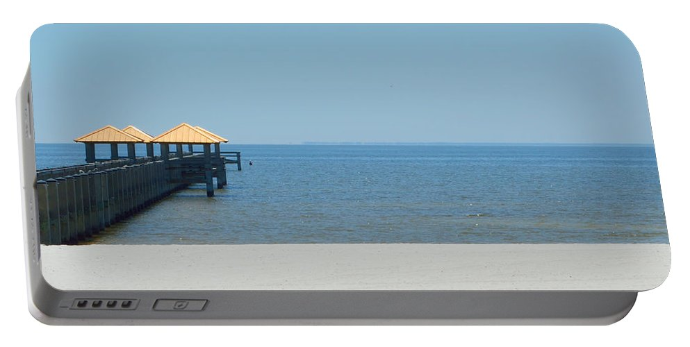 West Side Pier Portable Battery Charger featuring the photograph West Side Pier 2 by Alys Caviness-Gober