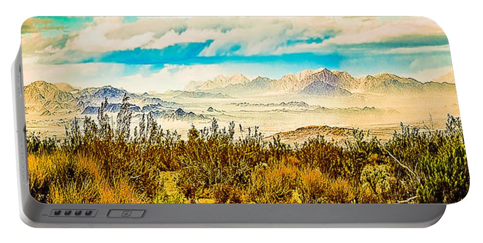 Joshua Tree National Park Portable Battery Charger featuring the photograph Western Panorama From Mountain At Joshua Tree National Park by Bob and Nadine Johnston