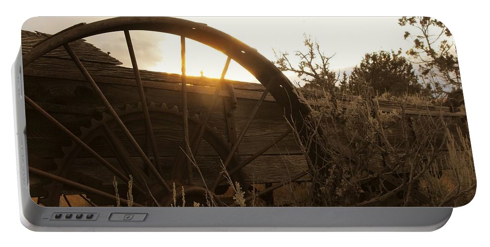 Sunset Portable Battery Charger featuring the photograph Western Sunset by Brandi Maher