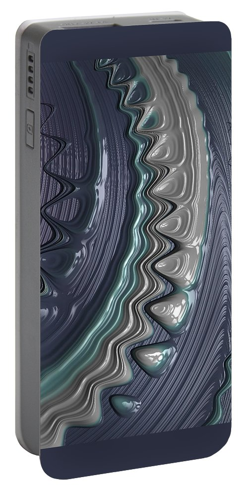 abstract Art fractal Art nail Art nail Design women's Fashion girl's Fashion Fashion fashion Design Makeup Portable Battery Charger featuring the photograph Wet Nails 17 by Bill Owen