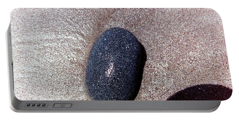 Rocks Portable Battery Charger featuring the photograph Wet Rock by Karl Rose